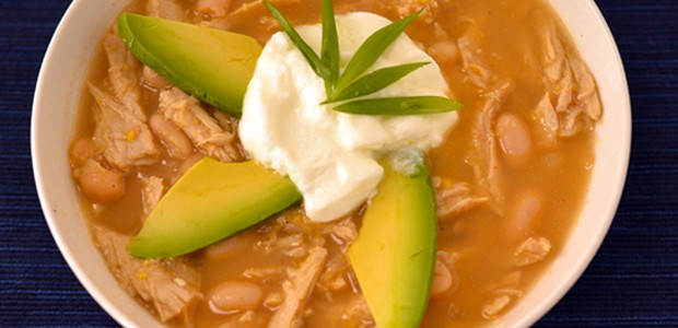 "Vegan White ""Chicken"" Chili recipe with Beyond Meat"